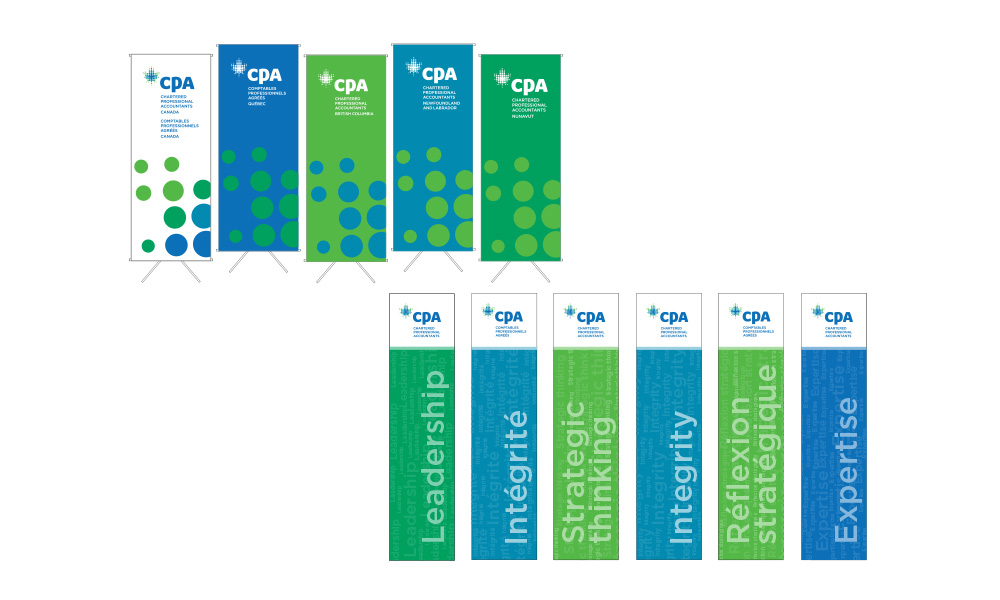 Dynamic graphic display banners and exhibit signage